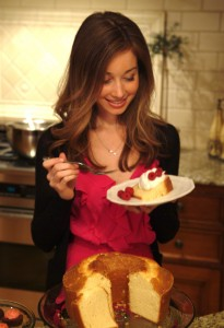 Sour Cream Pound Cake with Whipped Cream and Berries