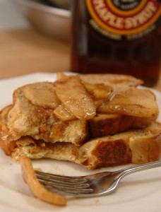 Challah French Toast with Maple-Apple Compote