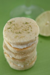 Margarita Lime Buttercream Sandwich Cookies