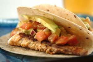Fish Tacos with Mango-Avocado Salsa
