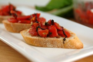 Jazzed-up Tomato Bruschetta with Sweet Balsamic Reduction