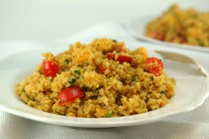 Quinoa Curry with Mango and Tomatoes