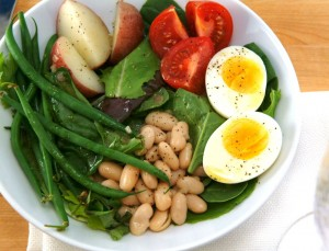 Quick White Bean Nicoise Salad and Quick Fixes When You've Overindulged