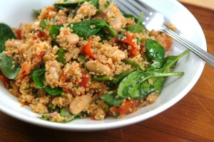 Quinoa Salad with Roasted Tomatoes, Basil, & Balsamic Vinaigrette