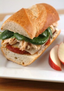 Chicken and Roasted Tomato Sandwich with Mozzarella
