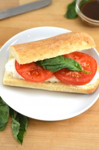 Caprese Sandwiches with Balsamic Vinaigrette
