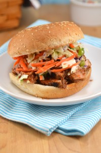 30-minute BBQ Pork Sandwiches with Slaw