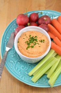 Spring Goat Cheese Vegetable Dip