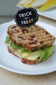 Brie, Roasted Turkey, and Pear Panini